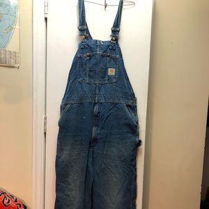 Mens Carhartt denim overalls. Size 40x34